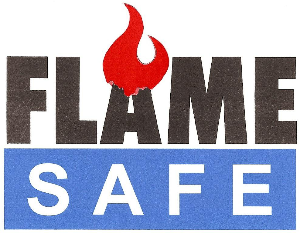 fire retardant fabric logo